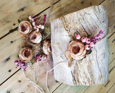 """Peaches"" Australian inspired plant foliage tieback"