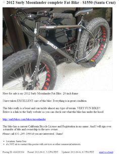 stolen surly moonlander Santa Cruz