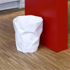 Wrinkled Style Trash Can Creative Dust Bin Waste Bin Various Colors Dropshipping Wholesale H-95 #Affiliate
