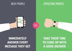 Realistic Comparisons Between Busy People Vs. Effective People