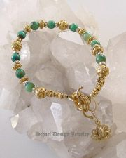 AAA Blue & Aqua Peruvian Opals with Swarovksi Crystal and Gold Vermeil Bracelet | online upscale jewelry boutique | Schaef Deseigns gemstone jewelry | San Diego, CA