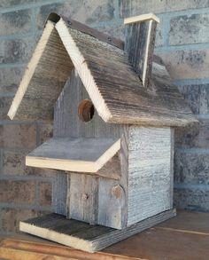 Old cedar fence birdhouse