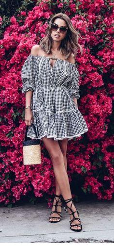 best gingham dresses #KoreanFashion