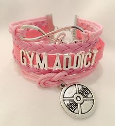 GYM ADDICT Multilayered Fitness Bracelet | Motivational Fitness Jewelry - Miss Fit Boutique