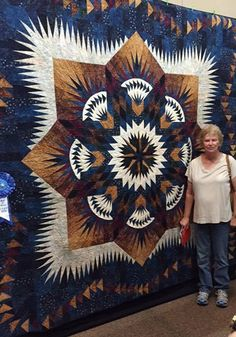 Prairie Star, Quiltworx.com, Made by Kay Woody, Taught by CI Eileen Urbanek