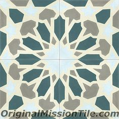 Handmade Fes Design cement tile by Original Mission Tile - all cement tiles can be customized to create your own according to your project's specs.