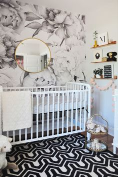 Project Nursery - Black and White Modern Glam Nursery - Project Nursery