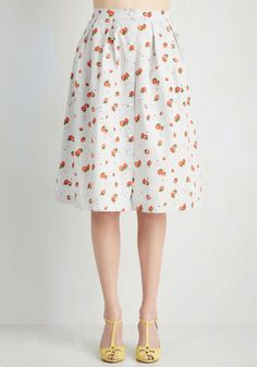 Don't Miss a Sweet Skirt. Transition from study mode to a weekend mentality seamlessly in this light cotton skirt by Trollied Dolly! #multi #modcloth
