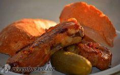 Egészben sült, pácolt oldalas Sausage, Pork, Meat, Kale Stir Fry, Sausages, Pork Chops, Chinese Sausage