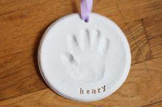 diy salt dough handprint ornament 1