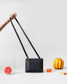 Bag by Australian-born, Berlin based Rebecca Martin of Alpha Cruxis.  Photo – Monika Holzner, art direction / styling – Rebecca Martin. Model – Svenja Y Seidel via thedesignfiles.net