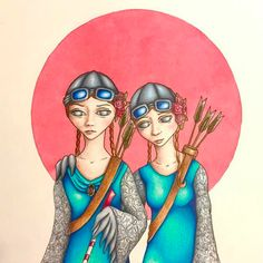 "Flying girls by Janna Espenhain. ""We are not blind just because we can't see"" Blind, Princess Zelda, Drawings, Girls, Artwork, Fictional Characters, Instagram, Little Girls, Shutter"