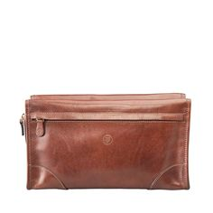 Mens Leather Toiletry Bag