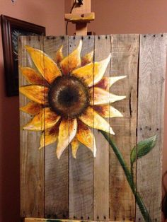 17 Truly Amazing Wall Decorations Made Of Reclaimed Wood diy ideas crafts Pallet Painting, Tole Painting, Painting On Wood, Fence Painting, Pallet Crafts, Wood Crafts, Pallet Projects, Diy Wood, Wood Wood