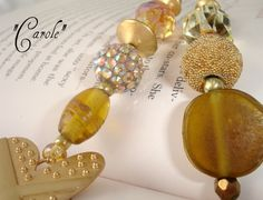 Designer Beaded Bookmark  Carole by SassyBookBling on Etsy, $19.00