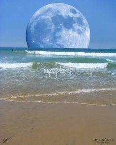 Moon Over Malibu - Zuma Beach by Lauri Jon Caravella