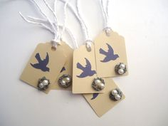 Wedding / Gift  / Favor Bag Tag with a Bird and by Chiceventsdecor, $15.00
