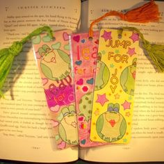 Set of 3 Frog Bookmarks, Laminated Bookmarks, Christmas Gifts, Stocking Stuffers, Kids Christmas Presents, Kids Gifts, Free Shipping