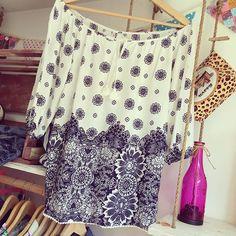 #mulpix Blusa Escote campesina  en tela chalis ☀️fresquita tallas S-M y L. Aquí…