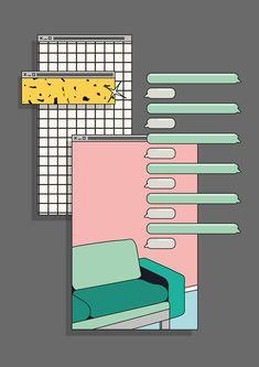 La Velocidad de una Fiesta Graphic Design Posters, Graphic Design Illustration, Graphic Design Inspiration, Graphic Art, Illustration Art, Aesthetic Art, Aesthetic Anime, Layout Design, Web Design