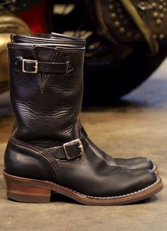 Wesco Horse Hide Engineer boots