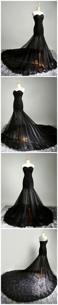 Mermaid Prom Dress,Black Prom Dress,Sweetheart Prom Dress,Beading Prom Dress,Long Prom Dress,Beading Prom Dress #amyprom #longpromdress #2018prom #promdress