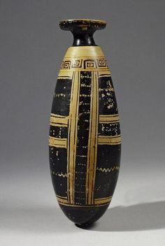 Archaic White Ground Alabastron   6th Century BC, 5th Century BC   Price $19,000.00   Archaic Greek, Greek   Terracotta   Vessels   eTiquities by Phoenix Ancient Art