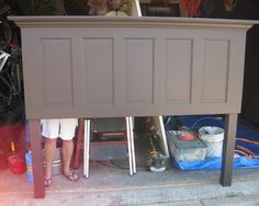 repurposed doors | REPURPOSED PURPOSE / Old Door Headboard Design, Pictures, Remodel ...