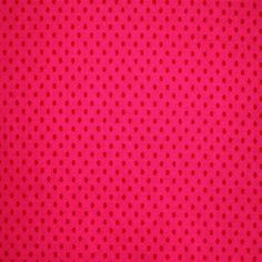 Coupon tissu rose a pois rouge