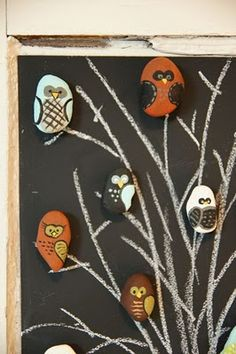 painted rocks.  super cute magnets