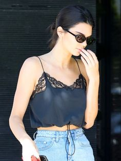 Kendall Jenner Wore Spring's Chicest Skirt-and-Flats Combo | WhoWhatWear.com | Bloglovin'