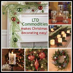 LTD Commodities: Christmas Decorating & Gift Ideas Christmas Gift Decorations, Christmas Mantels, Holiday Crafts, Holiday Fun, Christmas Wreaths, Holiday Decorating, Christmas Music, Winter Christmas, All Things Christmas