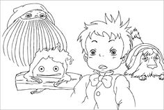 """alt=""""Howl's Moving Castle Coloring Page"""" """"coloring pages for kids"""""""