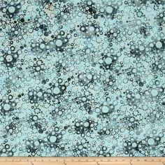 Bali Batiks Handpaints Bubble Dots Seafoam from @fabricdotcom  Designed for Hoffman International Fabrics, this Indonesian batik is perfect for quilting, craft projects, apparel and home décor accents. This batik fabric features a dot pattern that resembles bubbles. Colors include light blue, ivory and a dark seafoam.