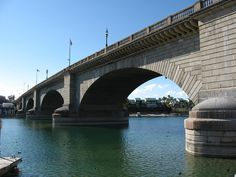 Formerly spanning the River Thames in London, England, the London Bridge in Lake Havasu City, Arizona was dismantled in 1967 in England and reassembled in Arizona in 1971
