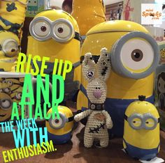 Rise up and attack the week with enthusiasm. Happy Wishes, Wish Quotes, Minions, Rabbit, Crochet, Character, Amigurumi, Bunny, Rabbits