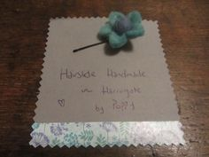 #Hairslides #Handmade in #Harrogate by Poppy. This lovely little turquoise felt flower is very sweet. My range of handmade hairslides are available at Hush Jewellery shop in the Victoria Shopping Centre in Harrogate, North Yorkshire. Come in and see us, we have a fantastic range of jewellery, scarves and accesories. Or have a look at the shop on their Twitter, @HushJewellery, and my hairslides on Twitter @Poppys_Buttons. Thank you!