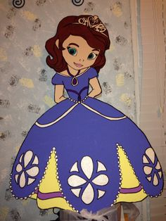 Sofia the First foam character handmade by me