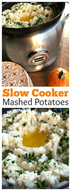 Slow Cooker Mashed Potatoes at ReluctantEntertainer.com