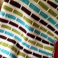 Crochet Stripes Blanket Pattern