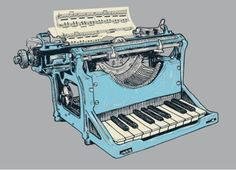 ...the best of both worlds...my ❤ for music and typing...!!!