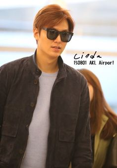 Lee Min Ho at Auckland airport, 20150731.