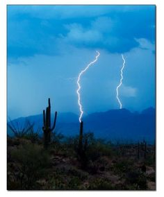 Arizona summer storm in the desert!