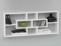 Lasse bookcase wall shelves in white with 8 compartments - 6629 modern, contemporary home office storage furniture sets for small spaces. Bedroom Wall Paint, Living Room Furniture Layout, Wall Mounted Bookshelves, Bookcase, Office Storage Furniture, Bookcase Wall, Shelves, Living Room Furniture Sale, Small Bathroom Decor