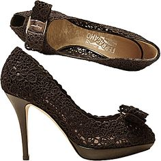 Ferragamo SS 2012 - these black lace beauties are a must in any girly- girl's closet!!!
