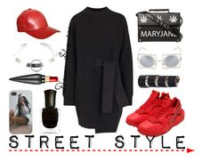"""""""Street Style"""" by adswil ❤ liked on Polyvore featuring Proenza Schouler, NIKE, Cast, Justine Clenquet, Deborah Lippmann, Maison Margiela, StreetStyle, swag, Mary and fly"""