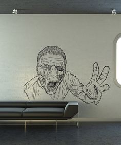 Vinyl Wall Art Decal Sticker Attacking Zombie by Stickerbrand, $59.95