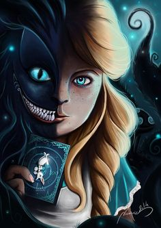 """Alice And Cheshire Cat"" || Noumenie.deviantart.com on @deviantART"