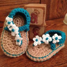 Triple Flower Sandals by DWcrochetattic on Etsy
