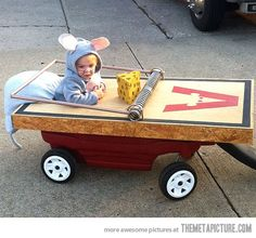Wanna take your kid out for Halloween without the need to chase them around? Try this creative way!